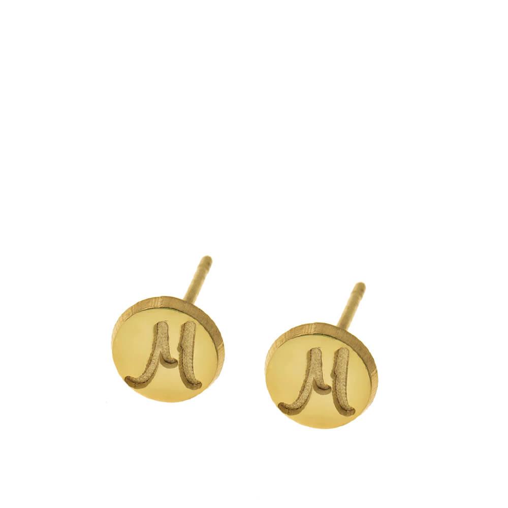 DiscoStud Orecchini With Initials gold