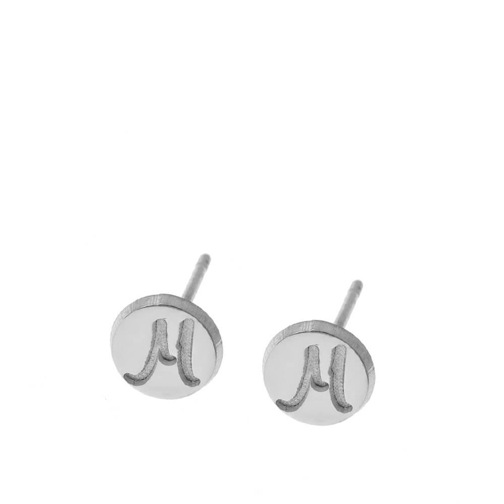 DiscoStud Orecchini With Initials silver