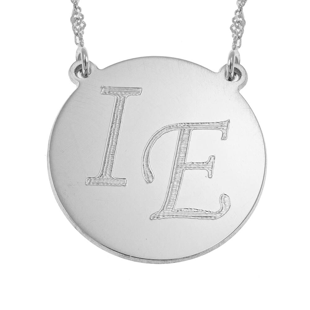 DiscoCollana With Two Initials silver