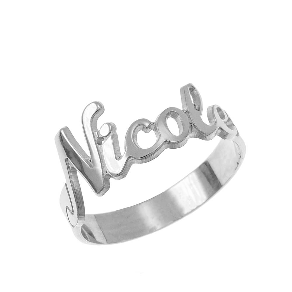 Cut out Nome Ring silver