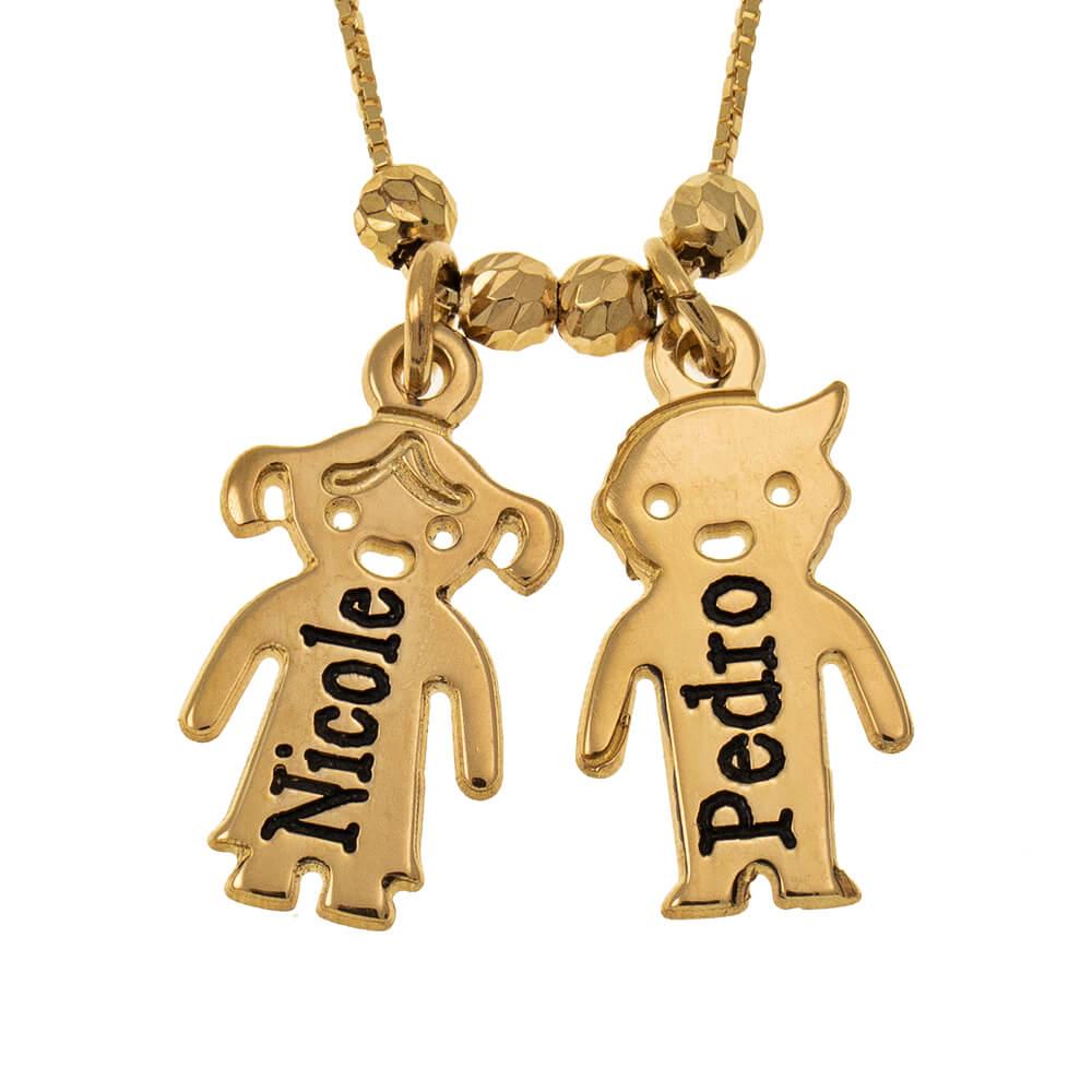 Engraved Children Collana gold