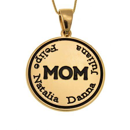 Collana Mamma a Disco Inciso