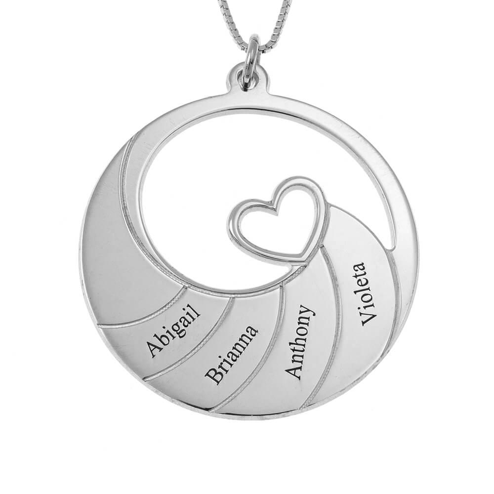 Four Nomi Spiral Collana silver