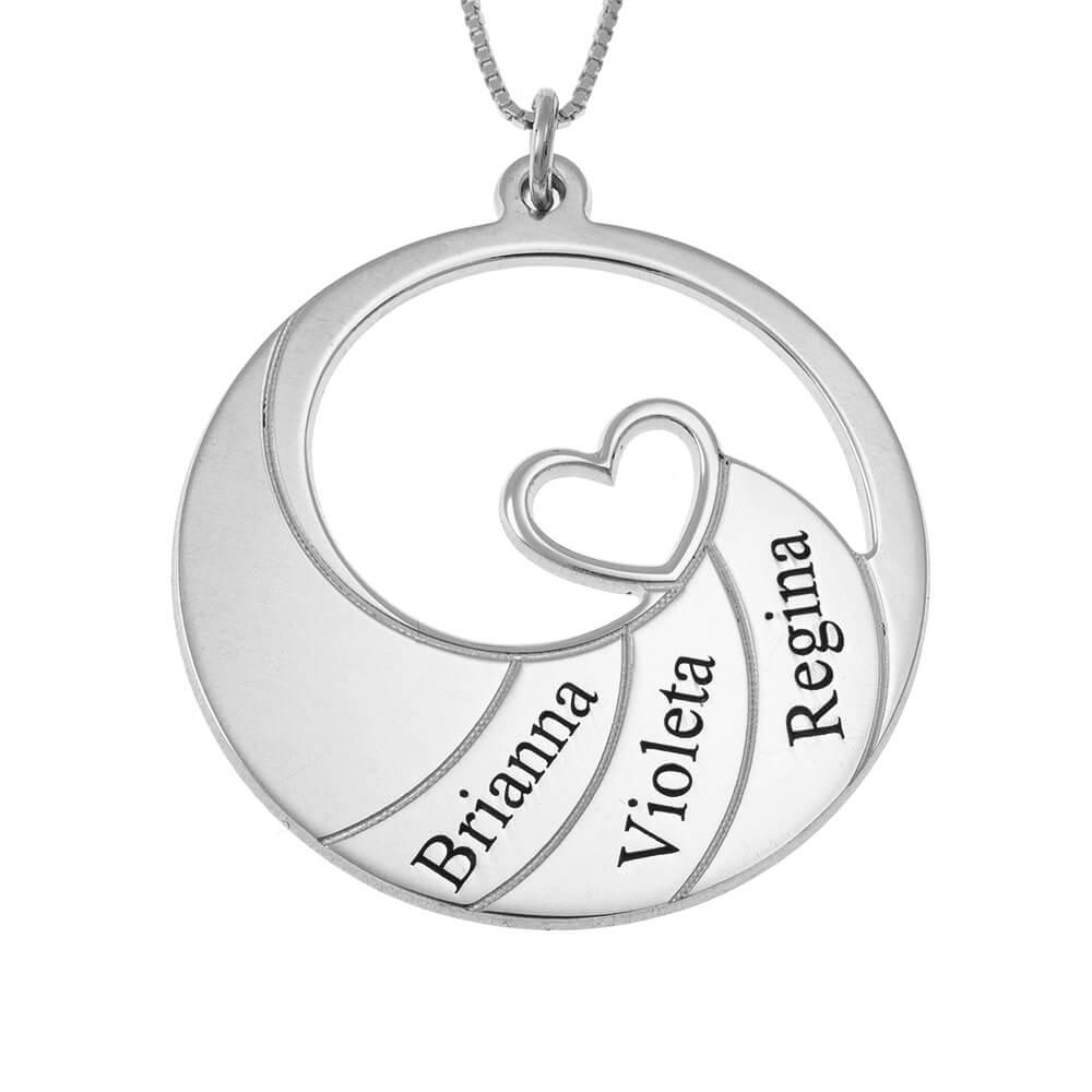 Three Nomi Spiral Collana silver