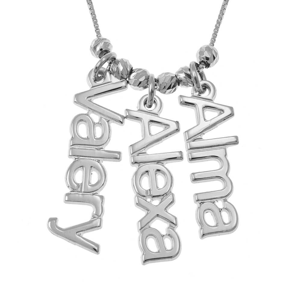 Vertical Nomi Collana silver