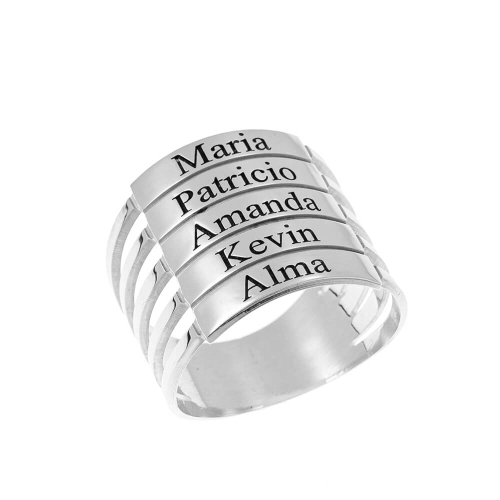 five Stackable Nomi Ring silver