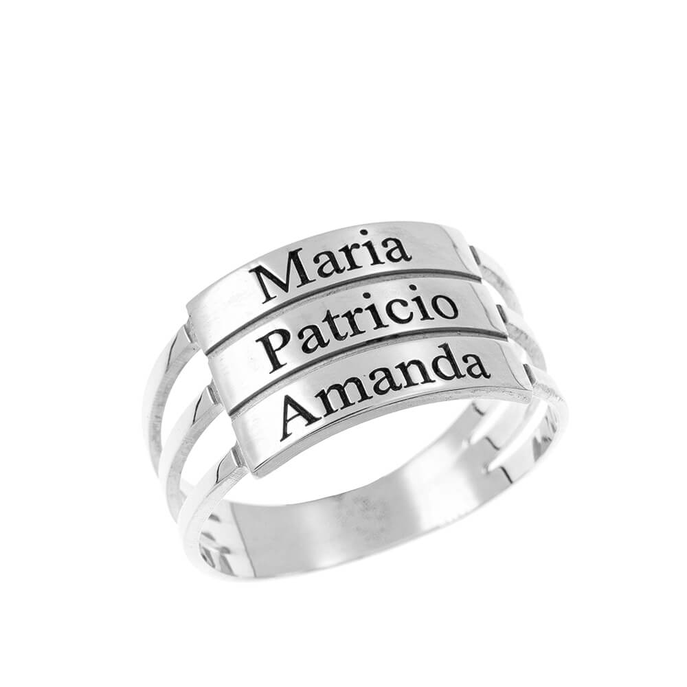 Three Stackable Nomi Ring silver