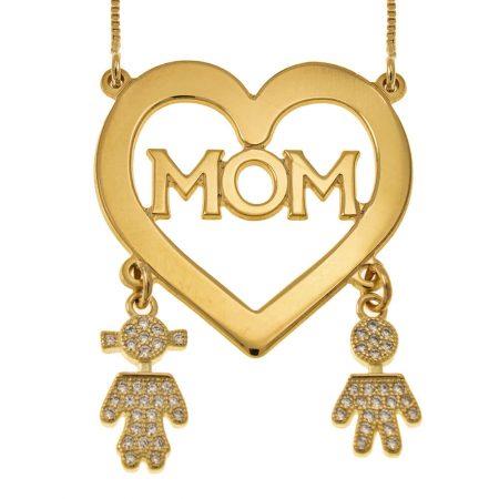 Collana a Cuore Mamma con Ciondoli Bambini
