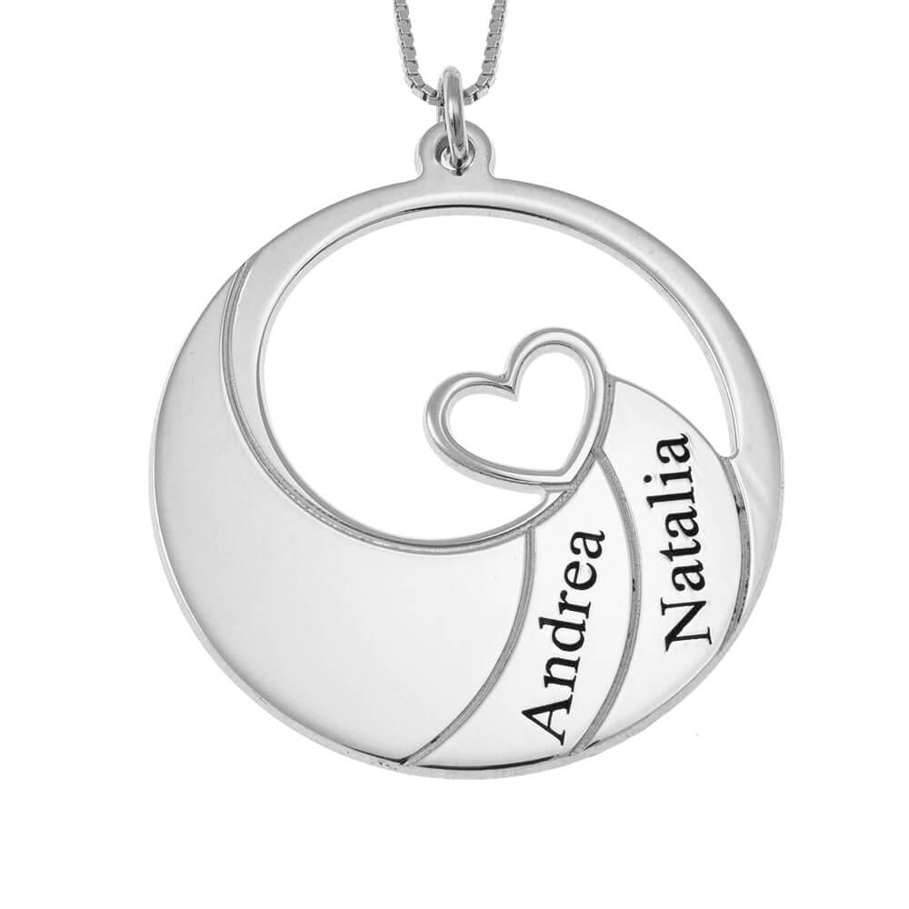 Two Nomi Spiral Collana silver