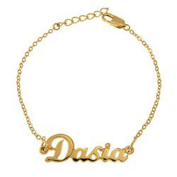 Dainty Nome Braccialetto gold