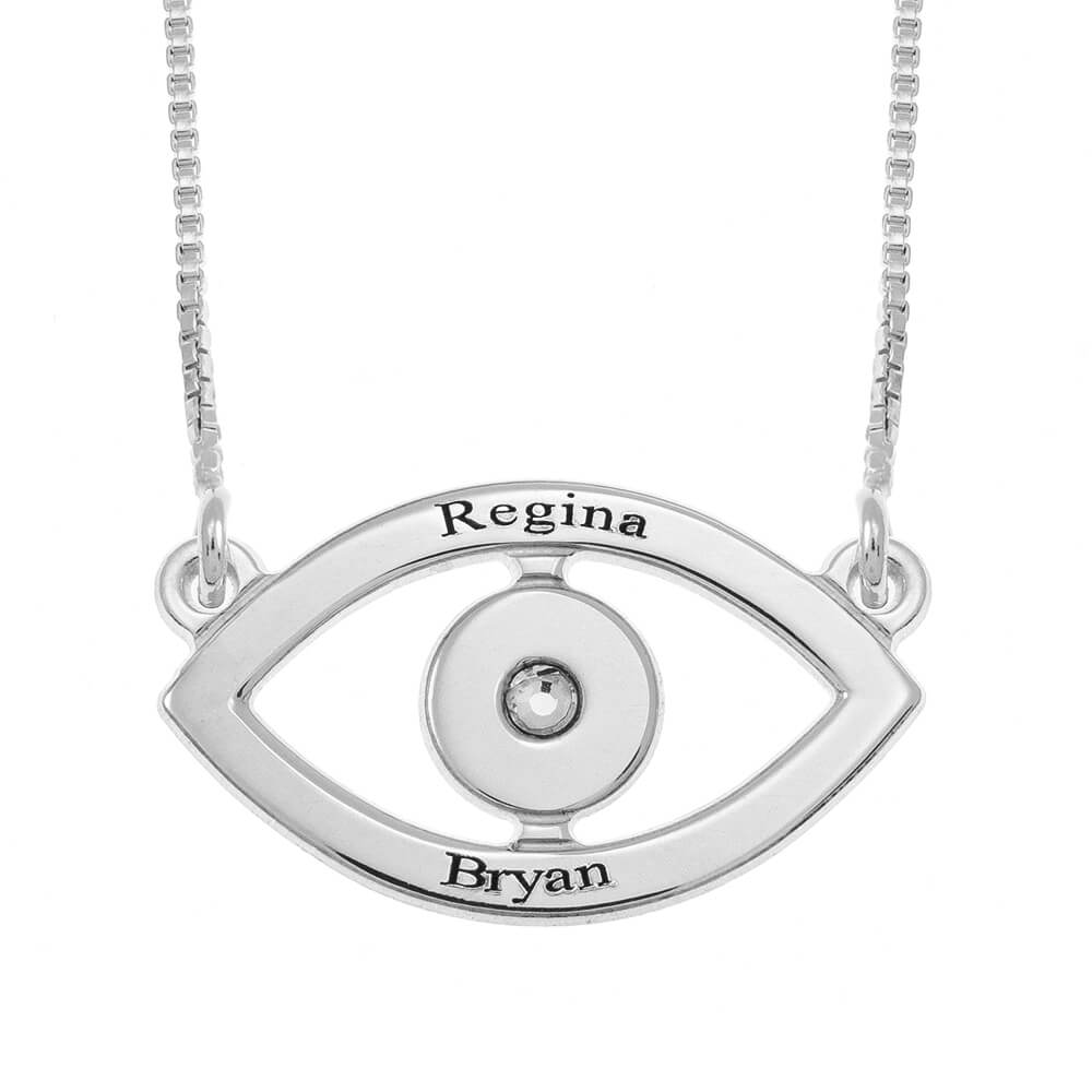 Evil Eye Two Nomi Collana silver
