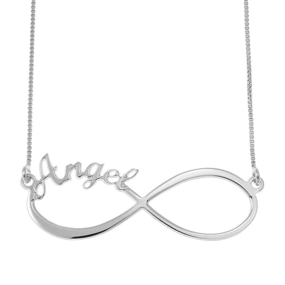 Infinity one Nome Collana silver