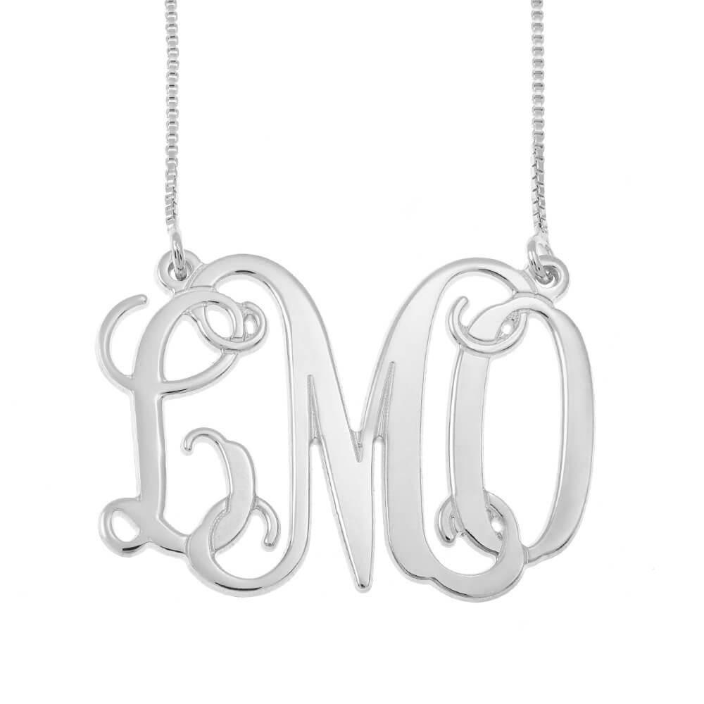 Monogram Initials Collana silver