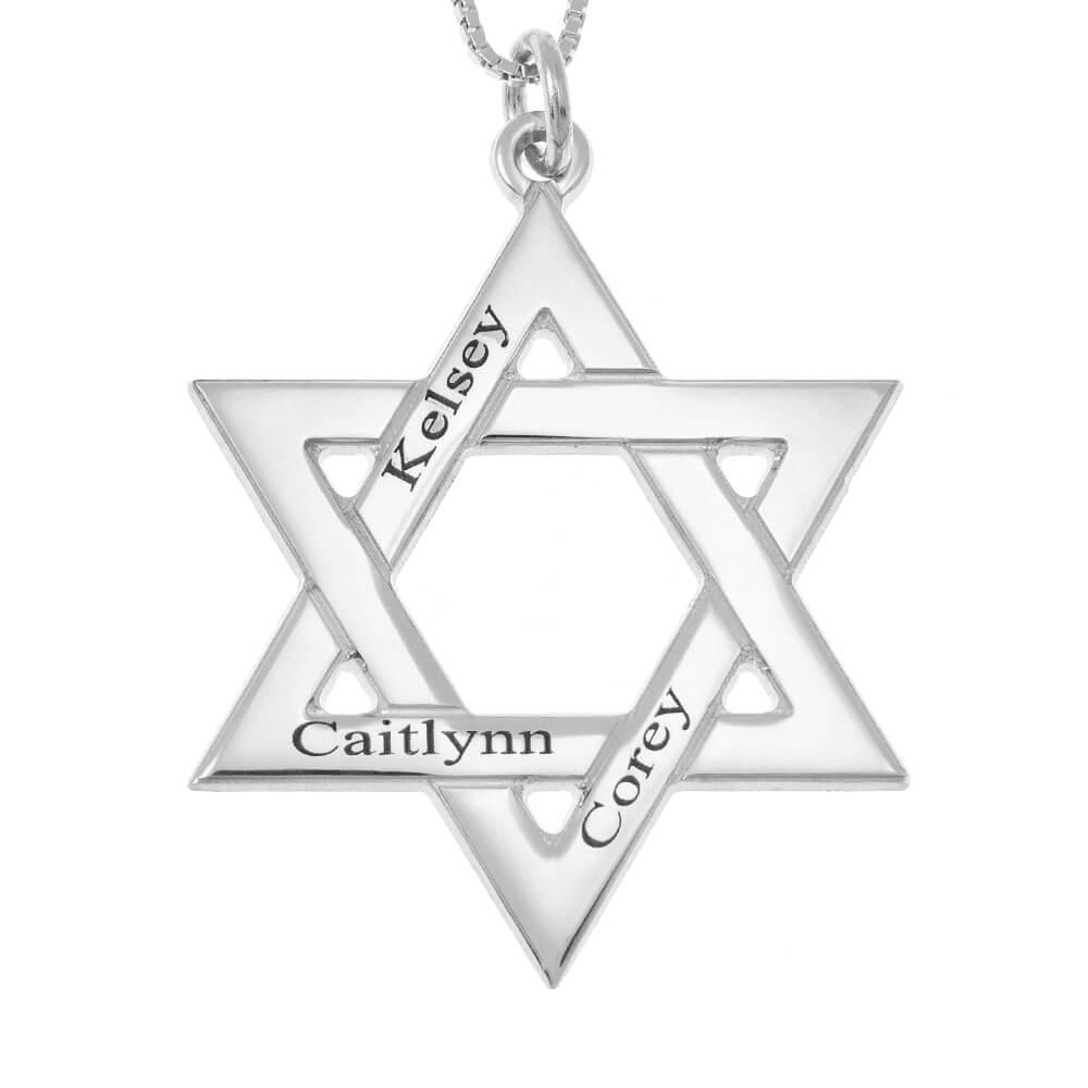 Star of David Nomi Collana silver