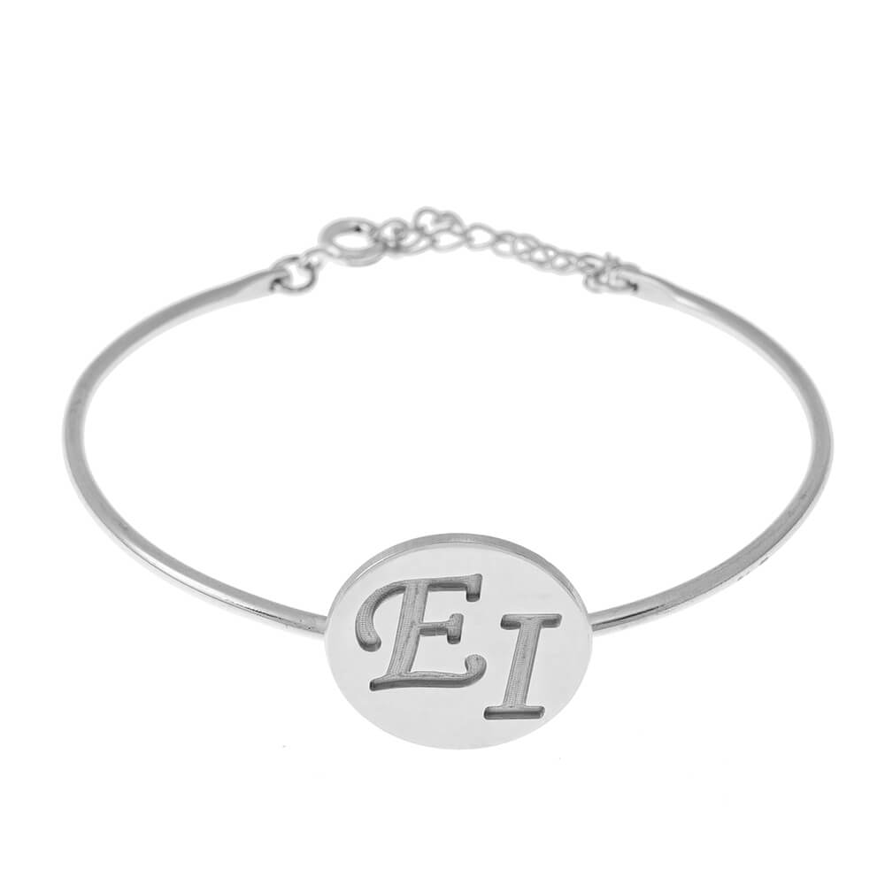 Two Initials DiscoBangle silver