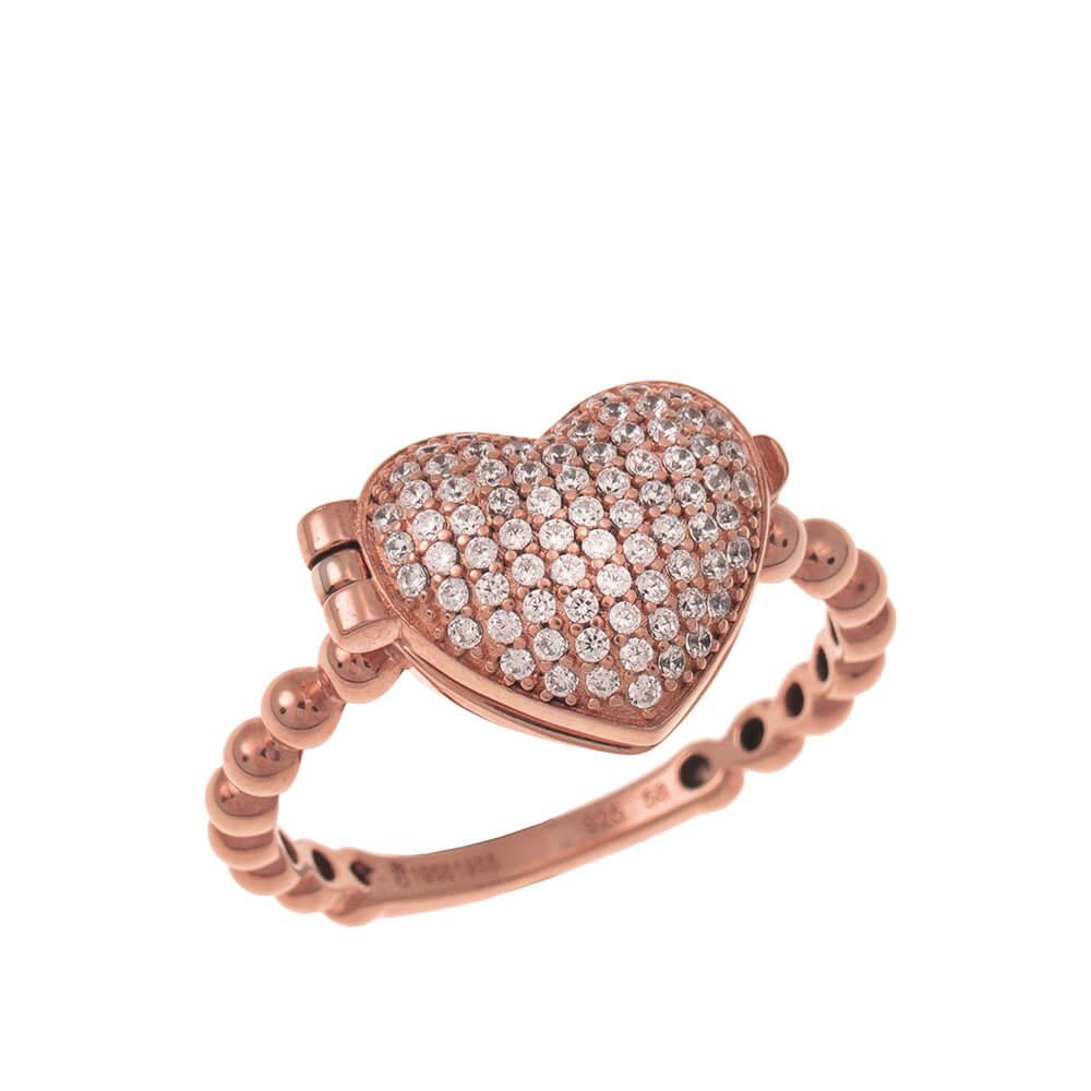 Close Locket Cuore Ring rose gold