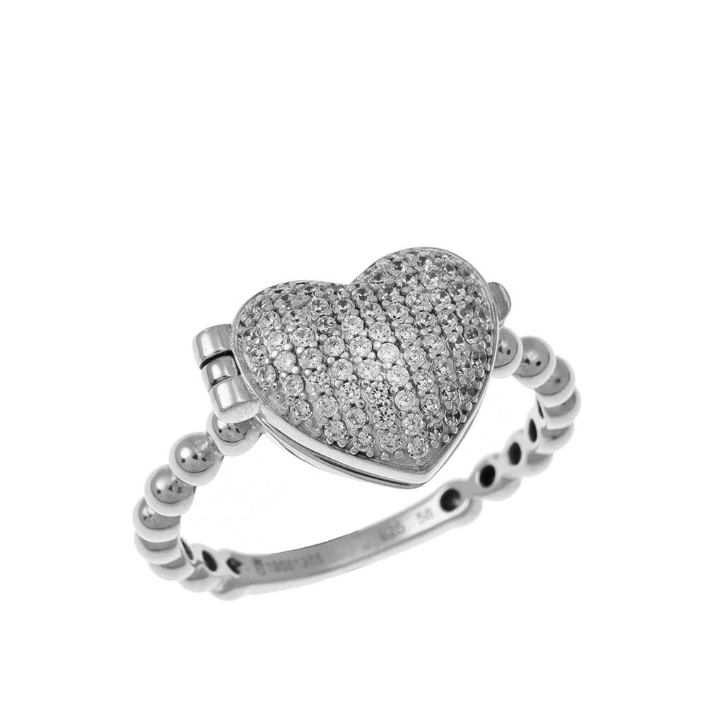 Close Locket Cuore Ring silver