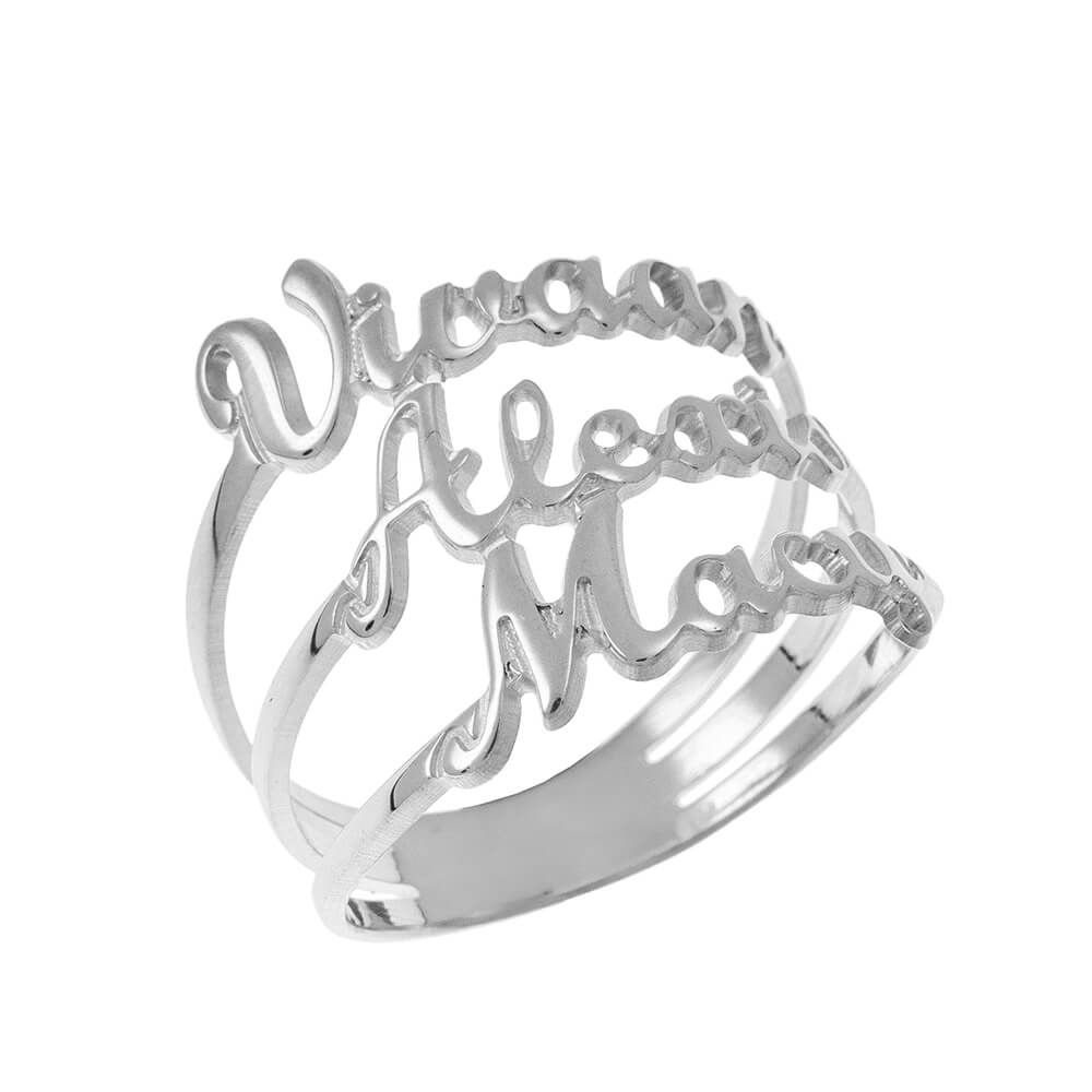 Cut Out 3 Nomi Ring silver