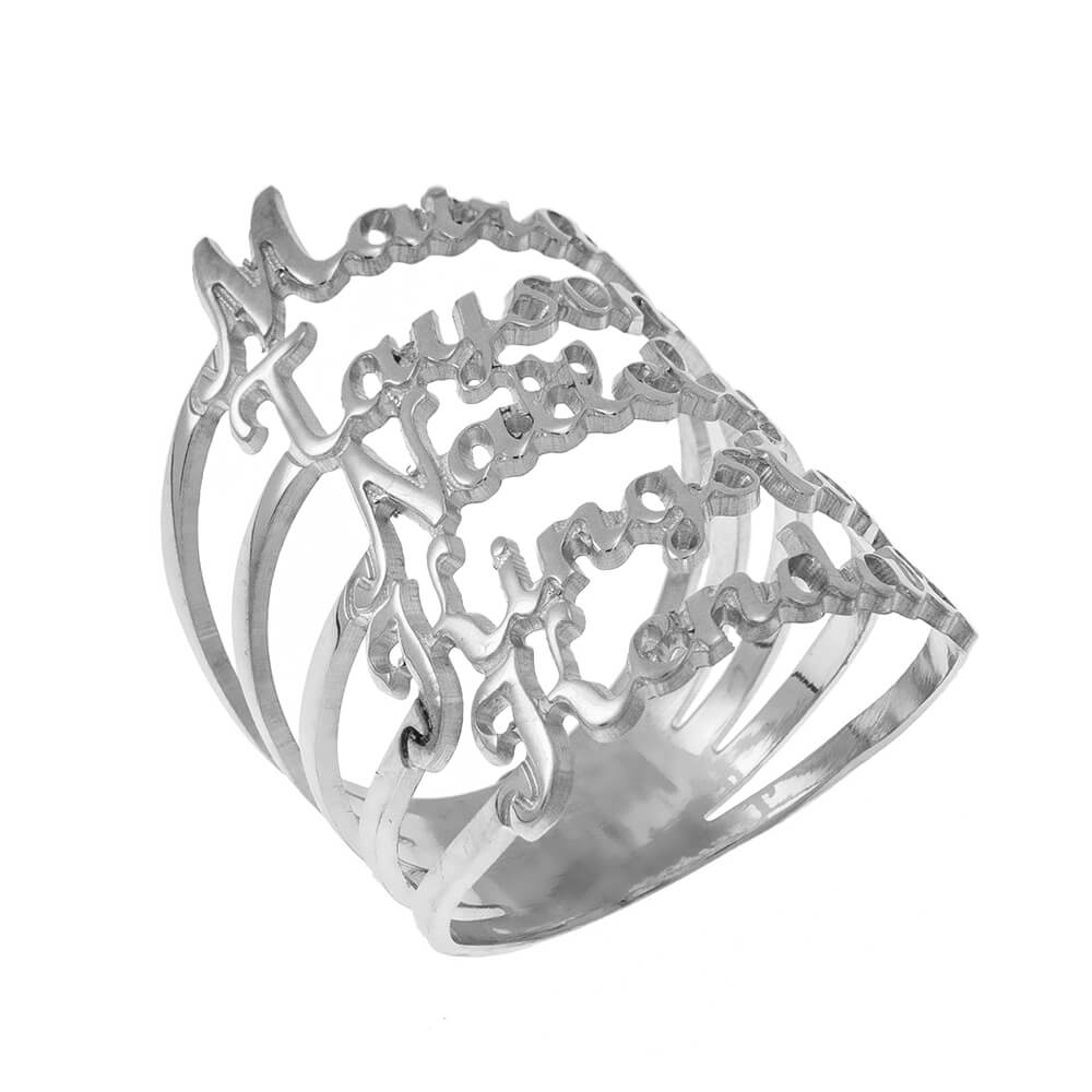 Cut Out Nomi 5 Ring silver