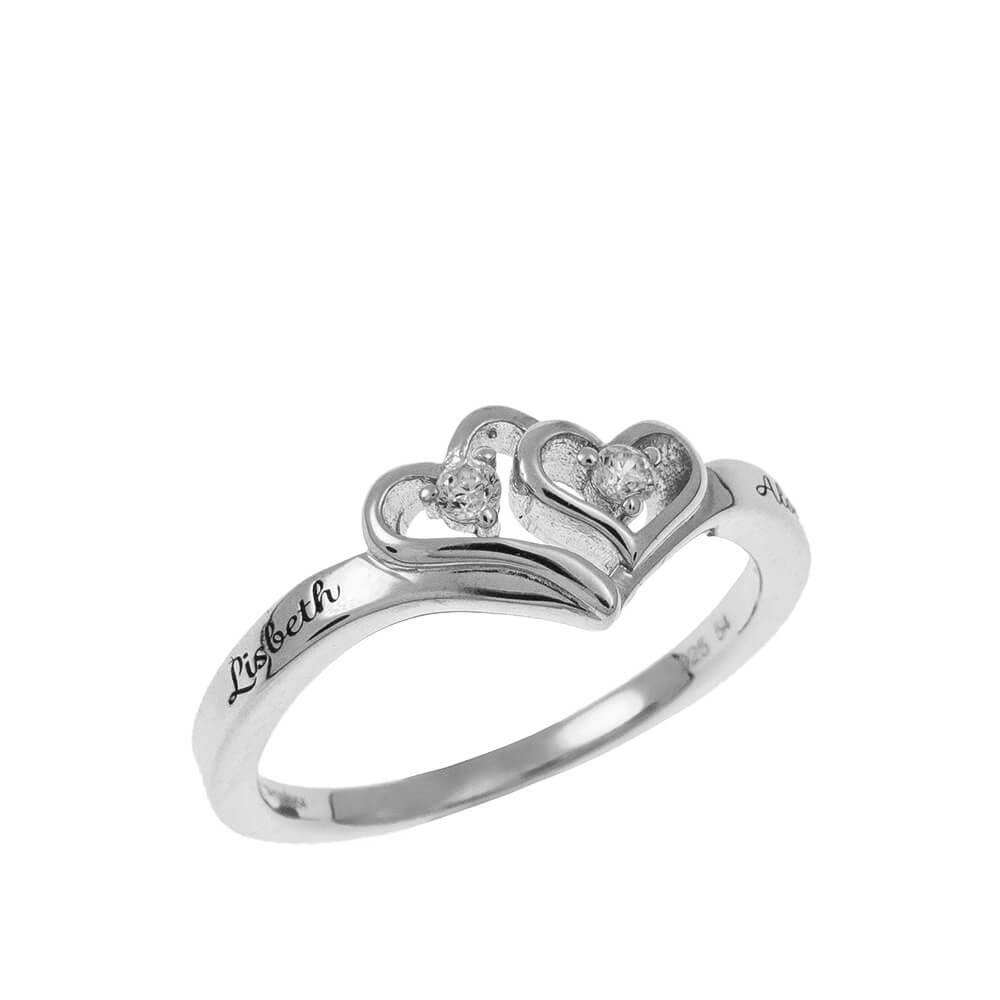 Cuore to Cuore Promise Ring silver