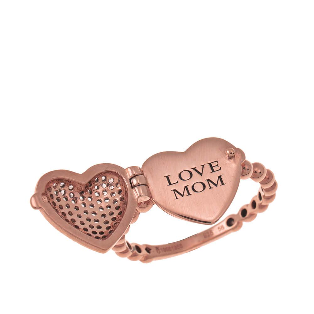 Locket Cuore Ring rose gold