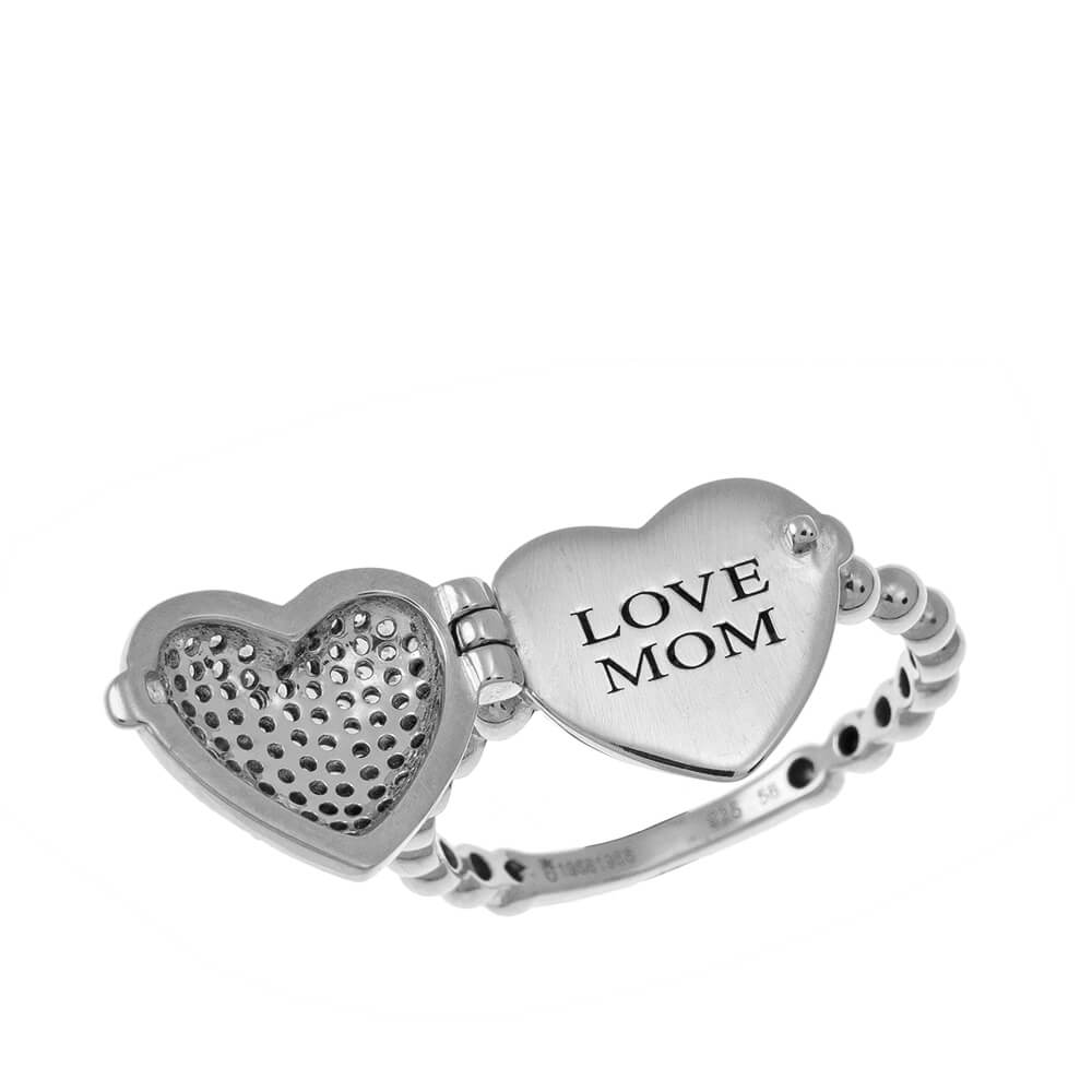 Locket Cuore Ring silver