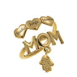 MOM Nomi Ring With Cuori gold