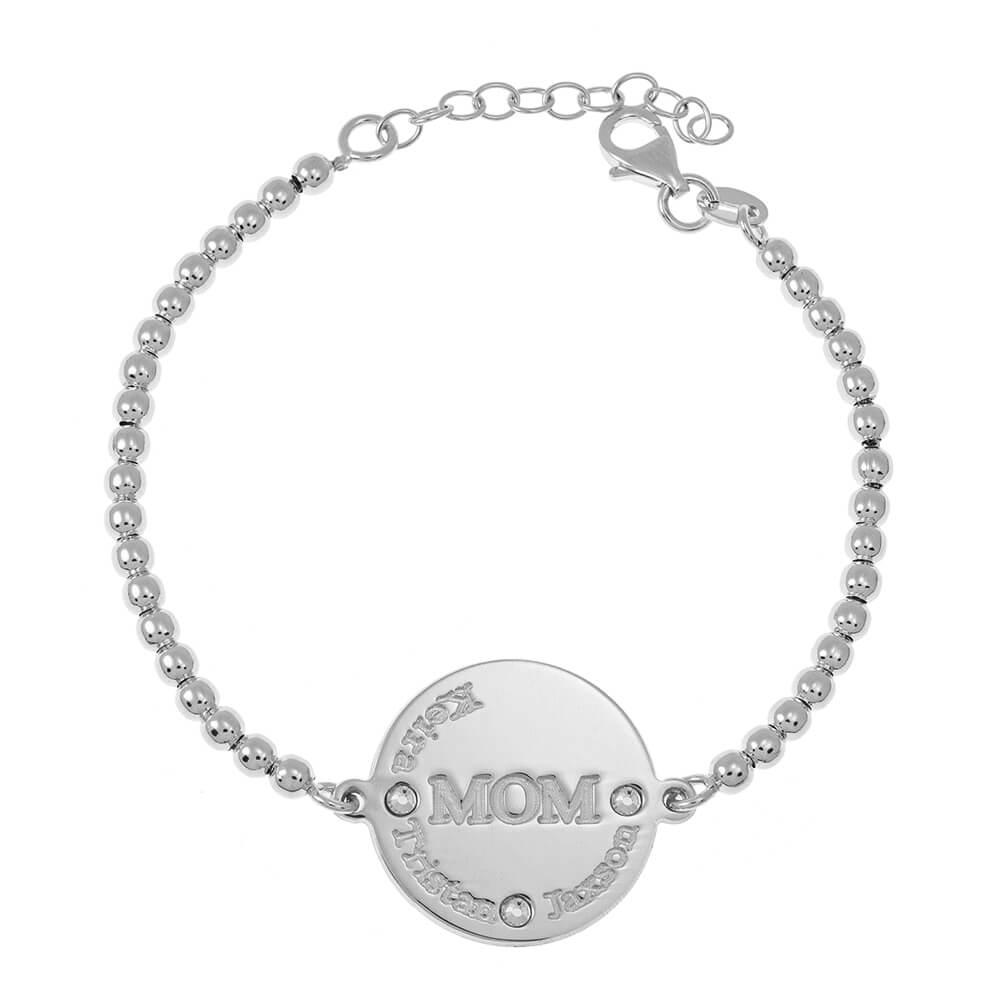 MoM DiscoBead Nomi Braccialetto silver