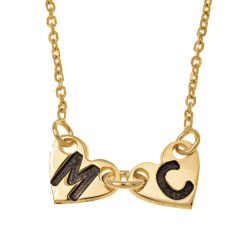 Attached Forever Cuori Collana gold