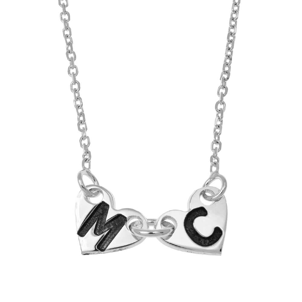 Attached Forever Cuori Collana silver