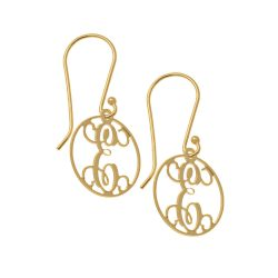 Circle Dangle Monogrammed Orecchini gold