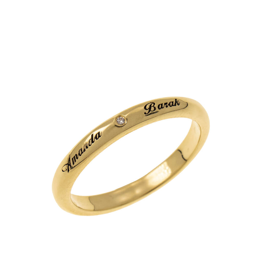 Classic Promise Ring with Incisione gold
