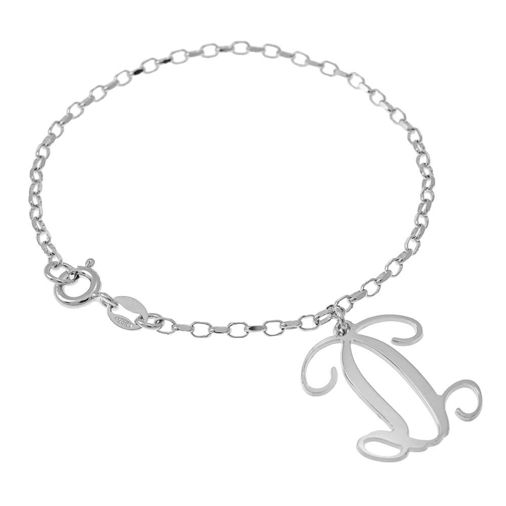 Dangling Monogram Braccialetto silver