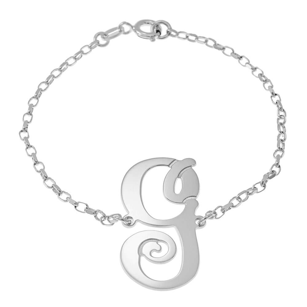 Delicate Monogram Braccialetto silver