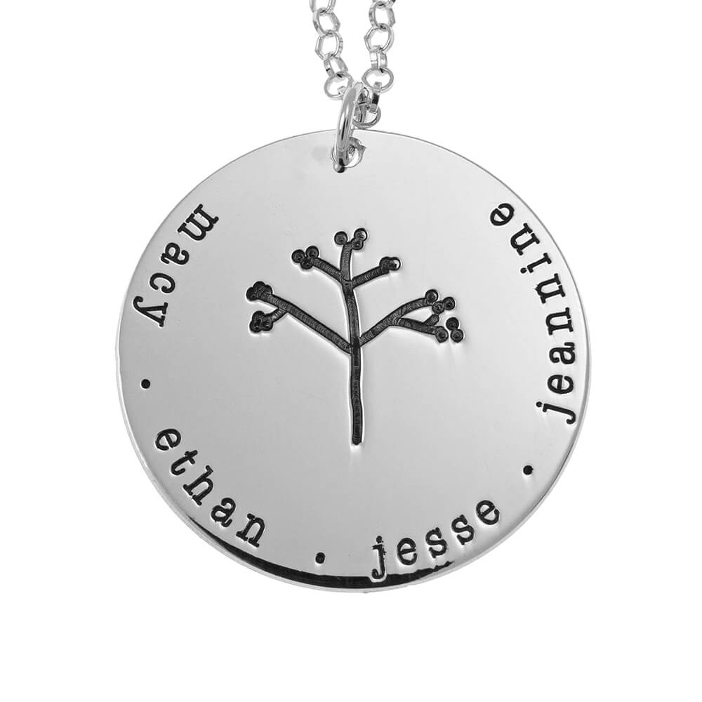 DiscoFamily Tree Collana silver