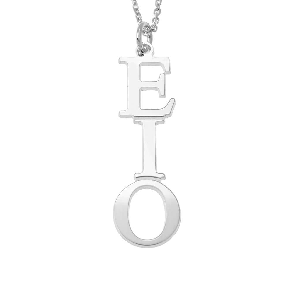 Greek Vertical Collana silver