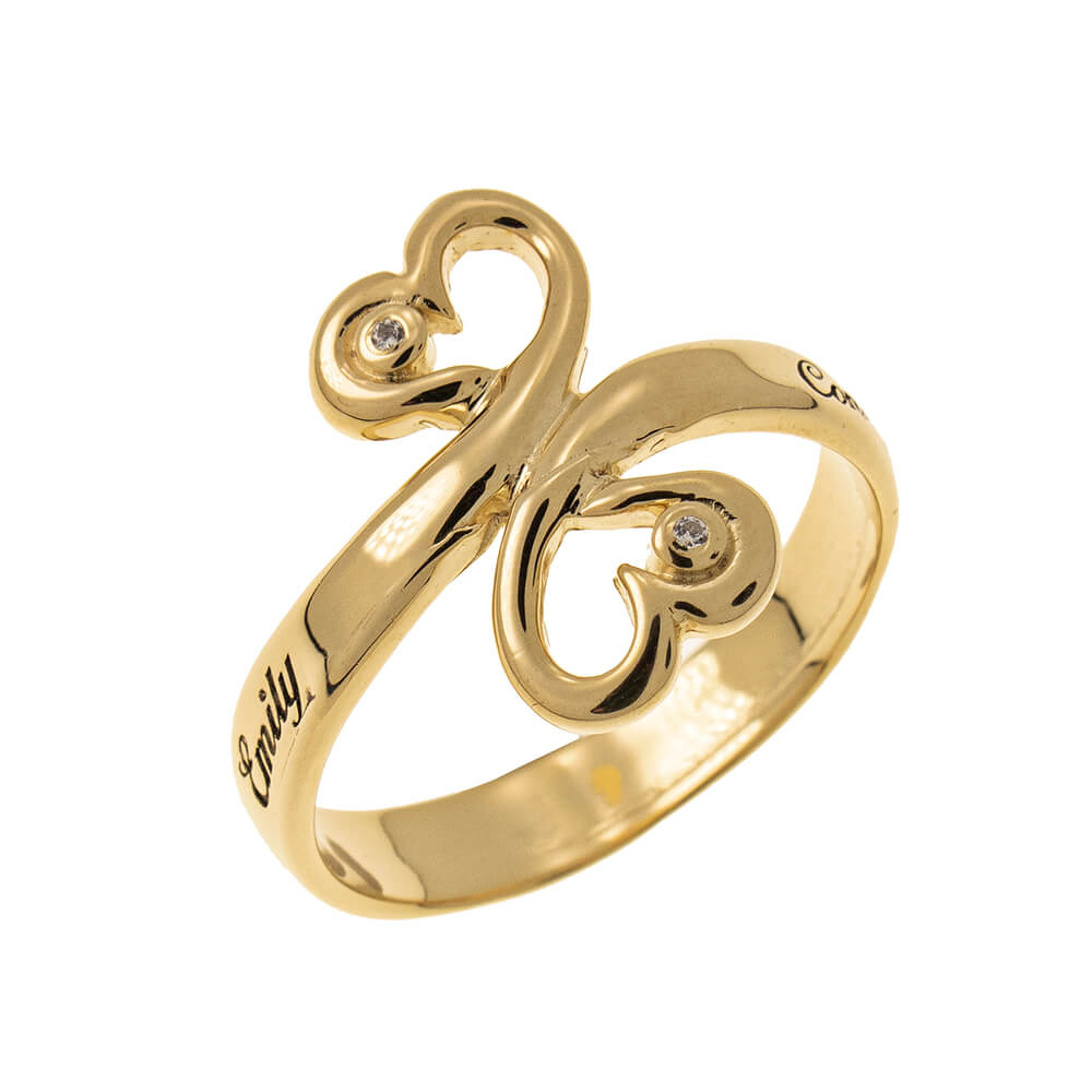 Cuore to Cuore Promise Ring with Birthstones gold 1