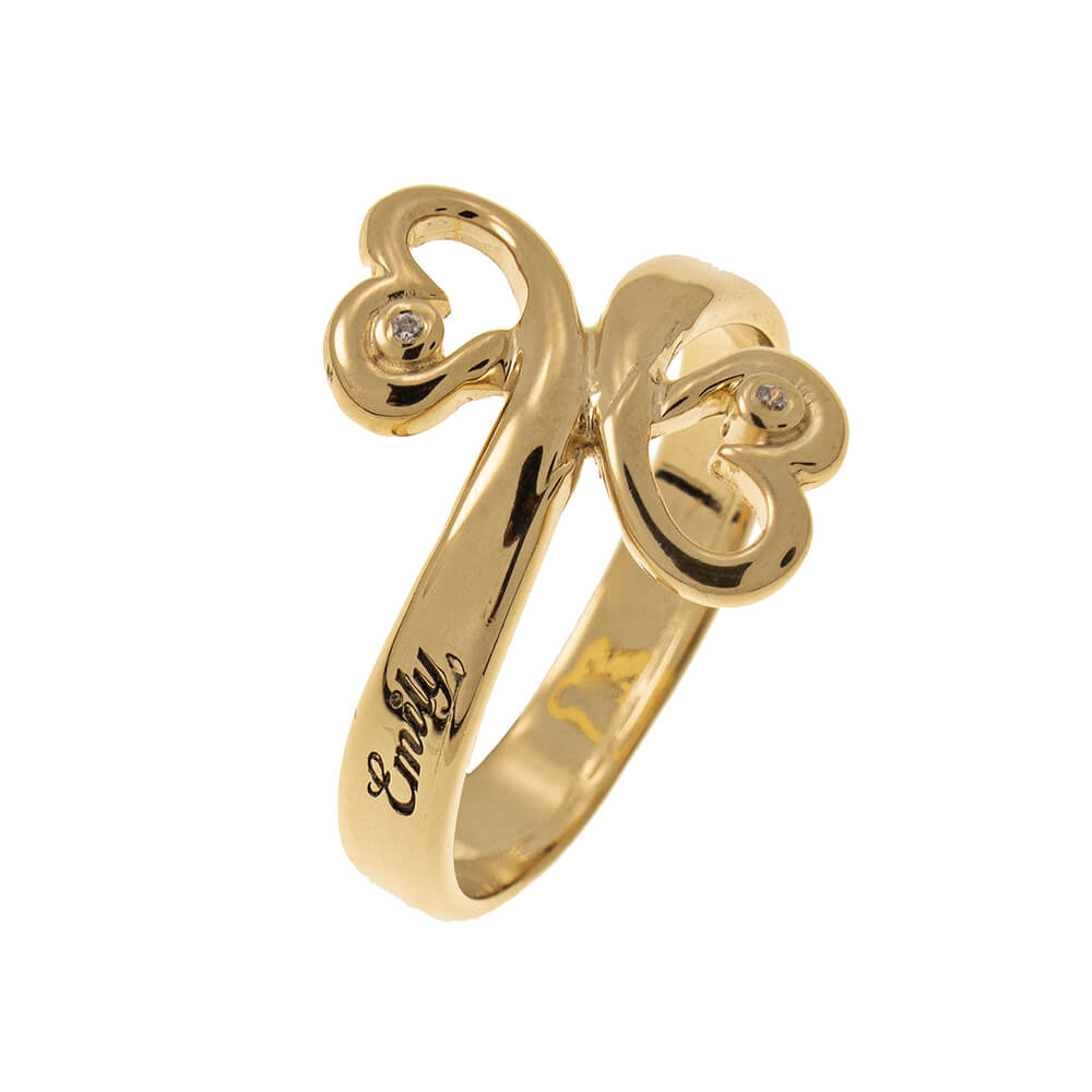 Cuore to Cuore Promise Ring with Birthstones gold
