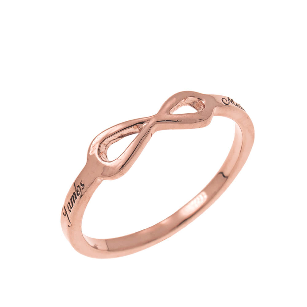 Infinity Love Ring with Incisione rose gold