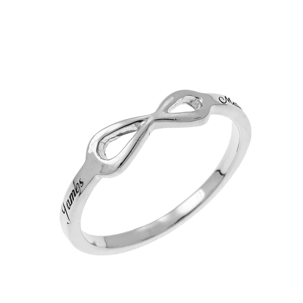 Infinity Love Ring with Incisione silver