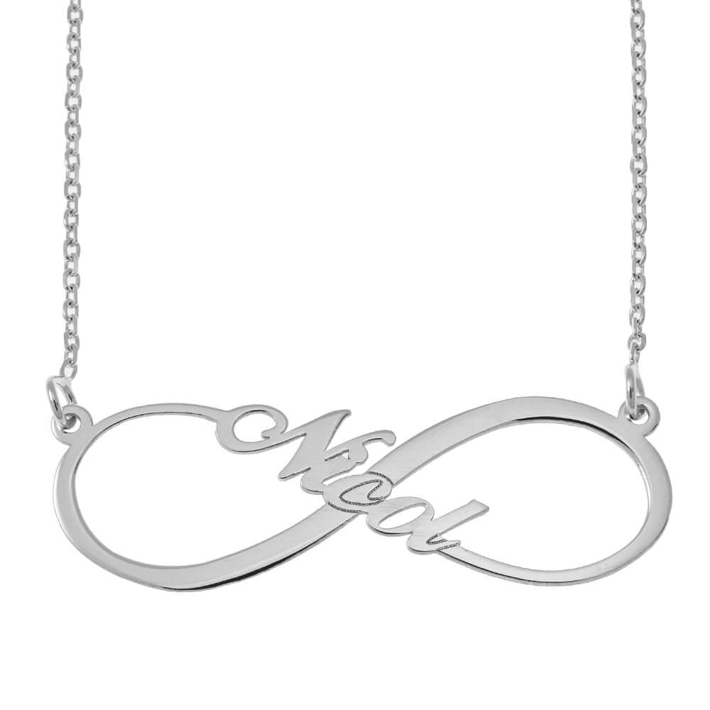 Infinity Stile Nome Collana silver