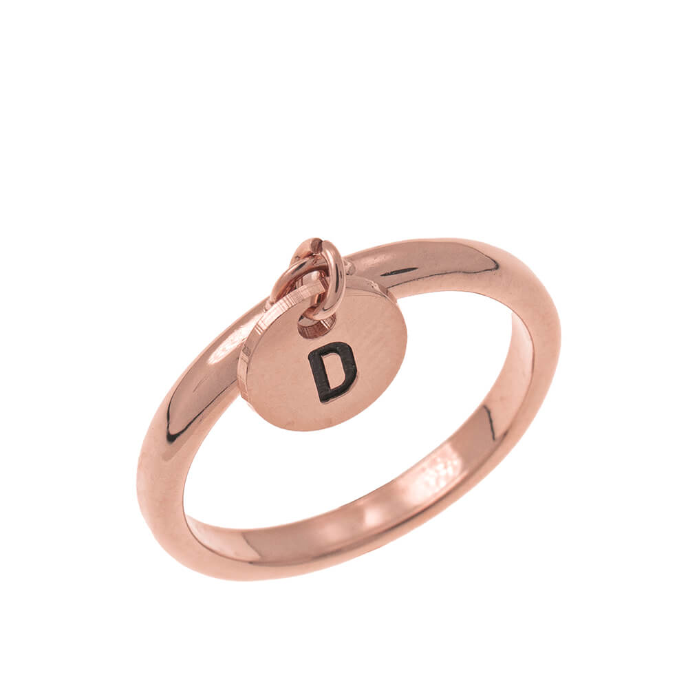 Initial DiscoCiondolo Ring rose gold