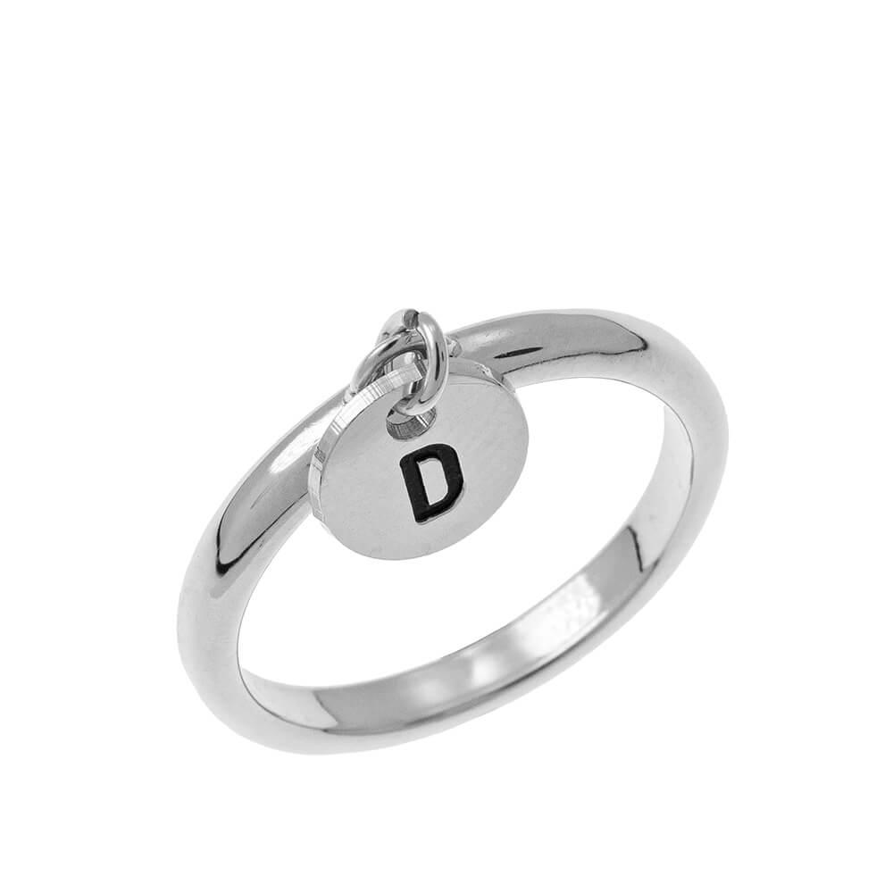 Initial DiscoCiondolo Ring silver
