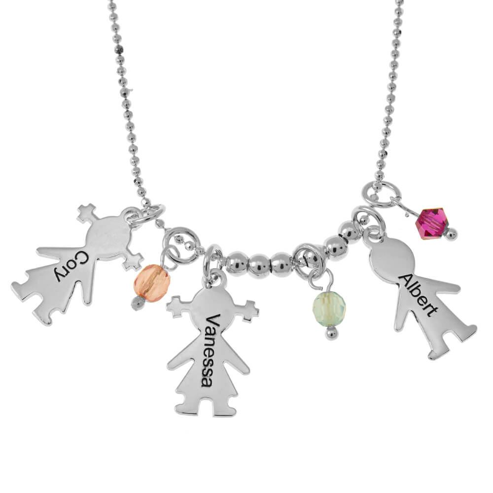 Kids Ciondoli and Birthstones Collana silver