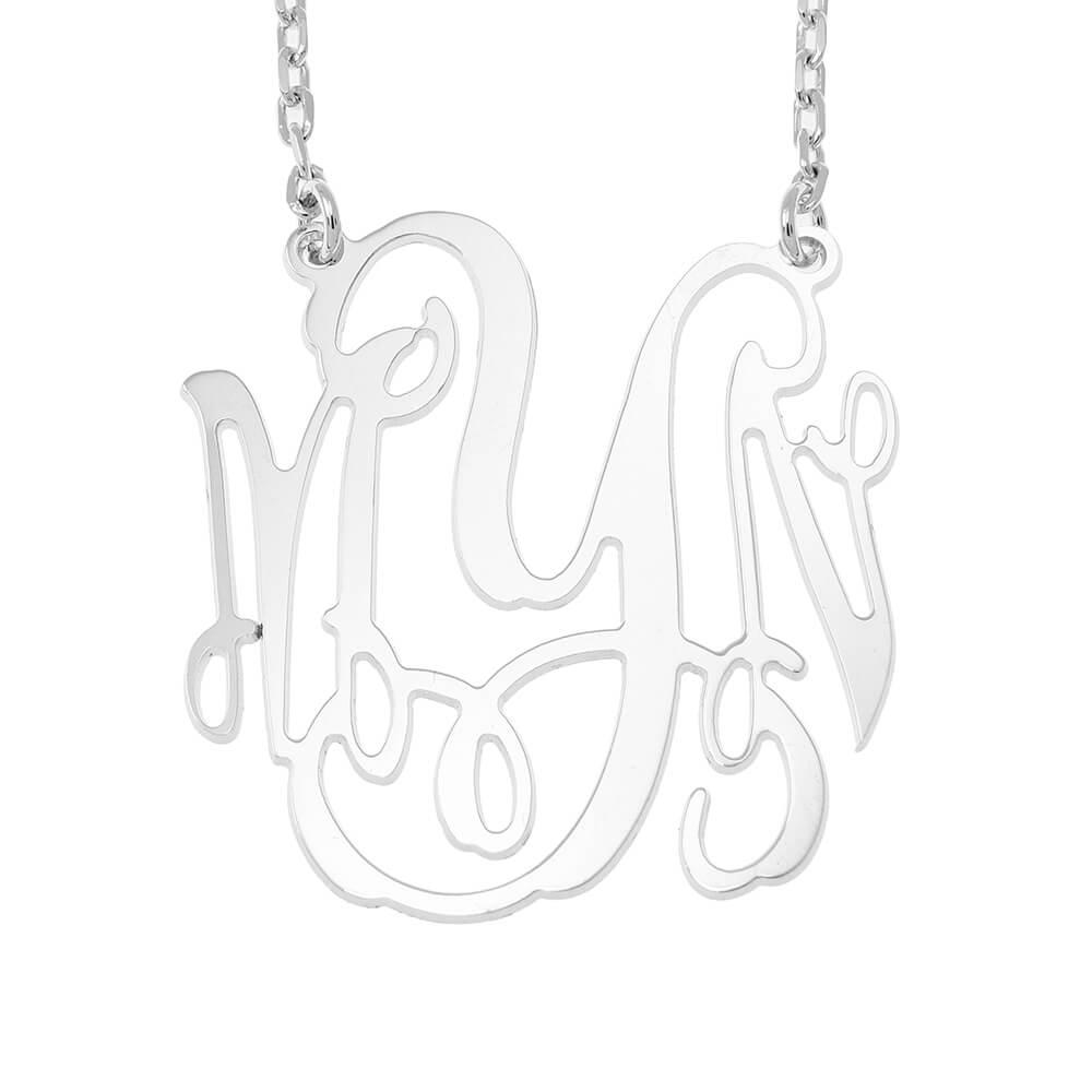 Large Monogram Collana silver
