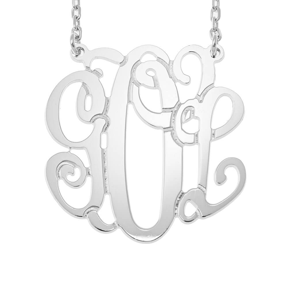 Monogram Collana silver