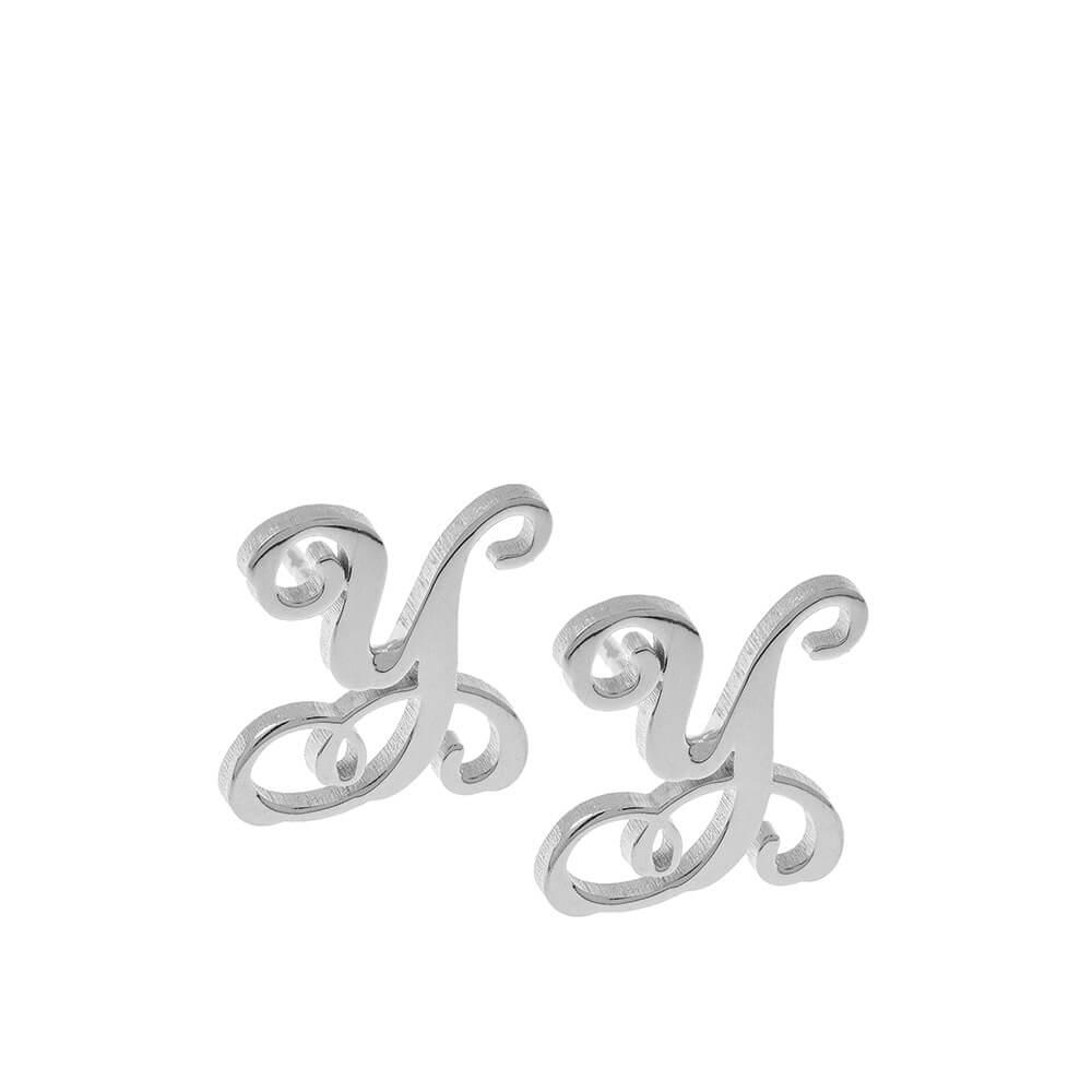 Monogram Stud Orecchini silver