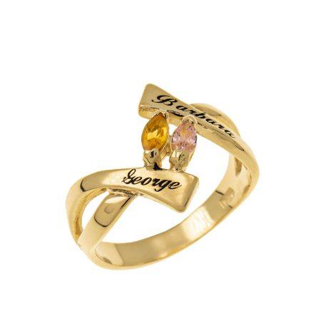 Anello Personalizzato con Pietra Portafortuna
