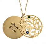 Personalized Double Layer Family Tree Collana 2 names gold